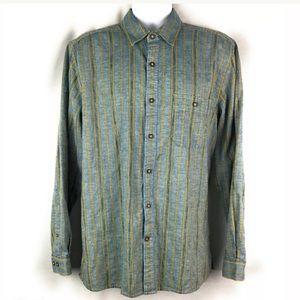 Territory Ahead Mens Shirt Linen Blend Button L/S